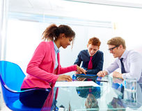 Multi ethnic teamwork of young business people Royalty Free Stock Photography