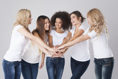 Multi ethnic women Stock Images