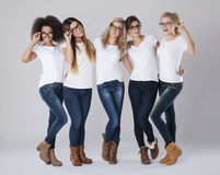 Multi ethnic women with glasses Stock Photography