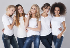 Multi ethnic women Stock Image