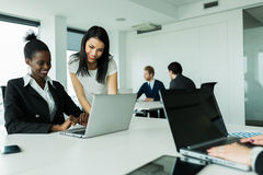 Multi-ethnic work environment Stock Image