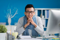 Multi-ethnic young businessman Stock Photos