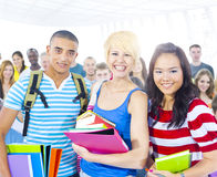 Multi-Ethnic Young People Lecture Room Stock Photo