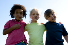 Multi-ethnical group of children Royalty Free Stock Photos