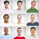 Multi-Ethnics Group of Cheerful People Stock Photography