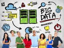 Multi Ethnie-großes Daten-Fantasie-Konzept Stockfoto