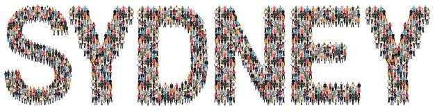 Multi Ethnie Sydneys Leute Lizenzfreie Stockfotografie