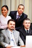 Multi etnisch commercieel team royalty-vrije stock foto