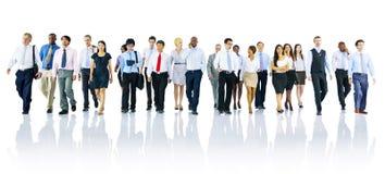 Multi-etnisch de Eenheidsconcept van Ambtenarenworkers success teamwork stock foto
