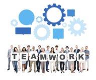 Multi-etnische Bedrijfsmensen met Groepswerkconcept Royalty-vrije Stock Foto