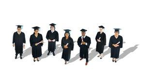 Multi-etnische Groep Gediplomeerde Student royalty-vrije stock afbeelding