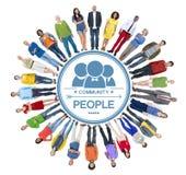 Multi-etnische Groep Mensen en Communautair Concept Stock Foto