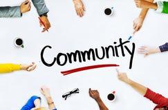 Multi-etnische Groep Mensen en Communautaire Concepten Stock Afbeeldingen
