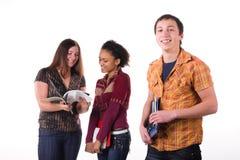 Multi-etnische groep studenten Stock Foto's