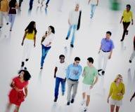 Multi-etnische Mensenforens Communautair het Lopen Concept Royalty-vrije Stock Fotografie