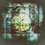 Multi exposure clock Stock Image