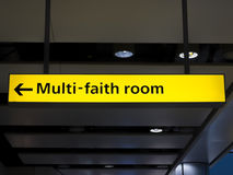 Multi-faith room sign Royalty Free Stock Photo