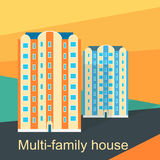 Multi-Family House Design Flat Royalty Free Stock Photography
