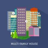 Multi-Family House Design Flat Royalty Free Stock Photos