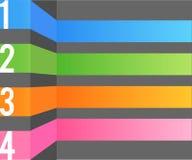 Multi Farbauslegungsschablone Lizenzfreie Stockbilder