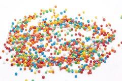 Multi Farbe besprüht auf weißem Hintergrund Stockfoto