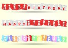 Multi Farbe des alles- Gute zum Geburtstagbrot-Clips vektor abbildung