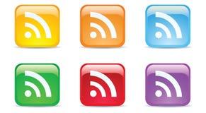 Multi Farbe RSS Stockfotos