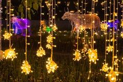 Multi Farben LED verzierten öffentlich Park Stockfoto