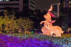 Multi Farben LED verzierten öffentlich Park Stockbilder