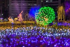 Multi Farben LED verzierten öffentlich Park Lizenzfreies Stockfoto