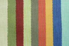 Multi Farbengewebe-Beschaffenheitsproben stockfotos