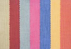 Multi Farbengewebe-Beschaffenheitsproben stockbilder