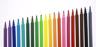 Multi Farbenmarkierungen Lizenzfreie Stockfotografie