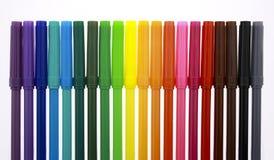 Multi Farbenmarkierungen mit Schutzkappen Lizenzfreie Stockfotos
