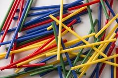 Multi Farbflexible Strohe Stockbild