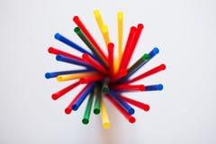 Multi Farbflexible Strohe Lizenzfreies Stockfoto