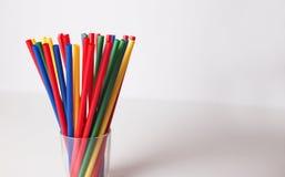 Multi Farbflexible Strohe Stockfotografie