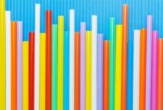Multi Farbflexible Strohe Lizenzfreie Stockbilder