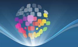 Multi Farbglobales soziales Stockfotos