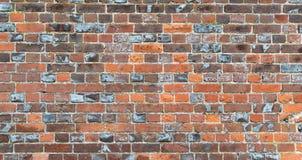 Multi farbige Backsteinmauer, die Zeichen des Alters zeigt stockfoto