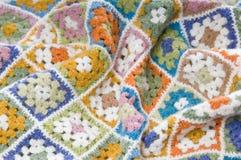 Multi farbige Decke in den Wollen Stockbild