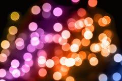 Multi farbige defocused Weihnachtslichter Lizenzfreie Stockfotos