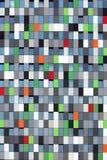 Multi farbige Fassade des Kursteilnehmergehäuses auf Campus Lizenzfreie Stockfotografie