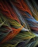 Multi farbige Federn Stockbild