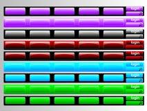 Multi farbige Navigationsstäbe Stockfotos