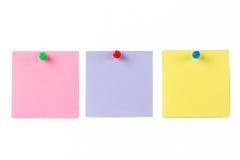 Multi farbige Post-Itanmerkungen Lizenzfreie Stockbilder