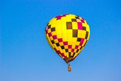 Multi farbige Quadrate auf Heißluft-Ballon Lizenzfreies Stockbild