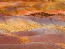 Multi farbige Sanddünen von Chamarel Lizenzfreies Stockbild