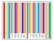 Multi farbiger Barcode Stockbild