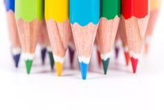 Multi farbiger Bleistift Stockfoto